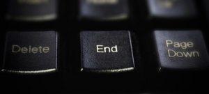 End key on a keyboard