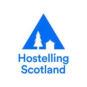 Hostelling Scotland Blue on White 1000