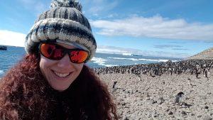 Kirsty at Paulet Island